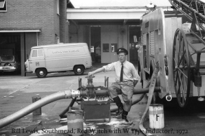 Bill Lewis, Southmead Fire Station 1972ish