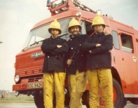 John Needs, George Harris and Phil Deane, Kingswood Fire Station 1975