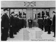 Opening of Speedwell FS, April 1953