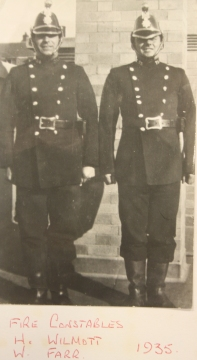Fire Constables H Wilmott and W Farr 1935 (Photo from Bristol Record Office)