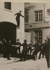 Jumping Sheet, Central, 1936 (Photo Bristol Records Office)
