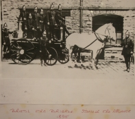 Bristol Fire Brigade Steamer Fire Appliance 1895. Photo from the Bristol Records Office