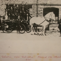 Bristol Fire Brigade Steamer Fire Appliance 1895. Photo from the Bristol Records Office