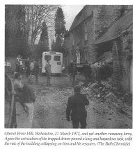 Runaway lorry, Brow Hill, Batheaston
