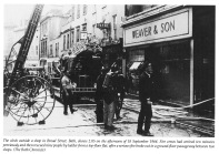 Fire in Broad Street, Bath 1964